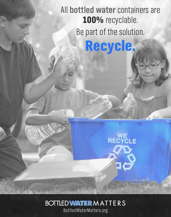 Children Recycle Graphic, Bottled Water | IBWA | Bottled Water